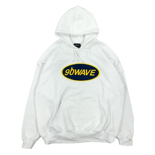 90WAVE 18FW BIG LOGO HOOD (화이트)